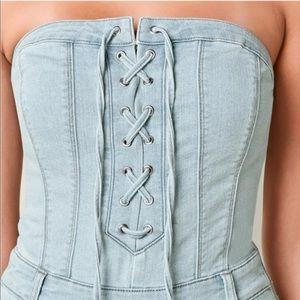 VENUS Other - Venus lace up denim jumpsuit